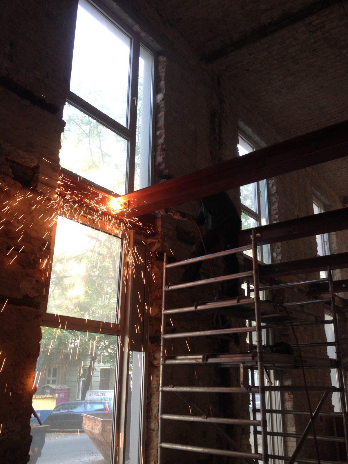 Schweißarbeiten Stahlträger