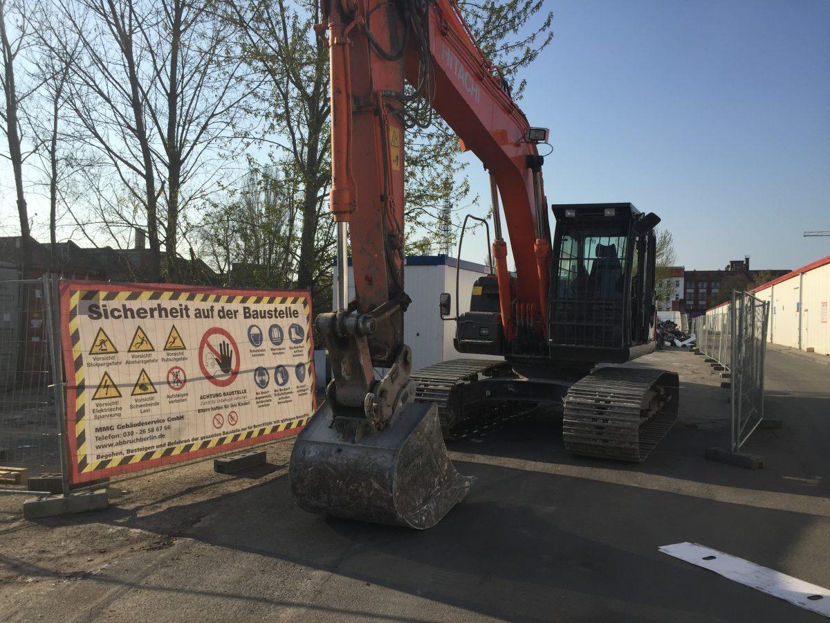 Kettenbagger Baustelle